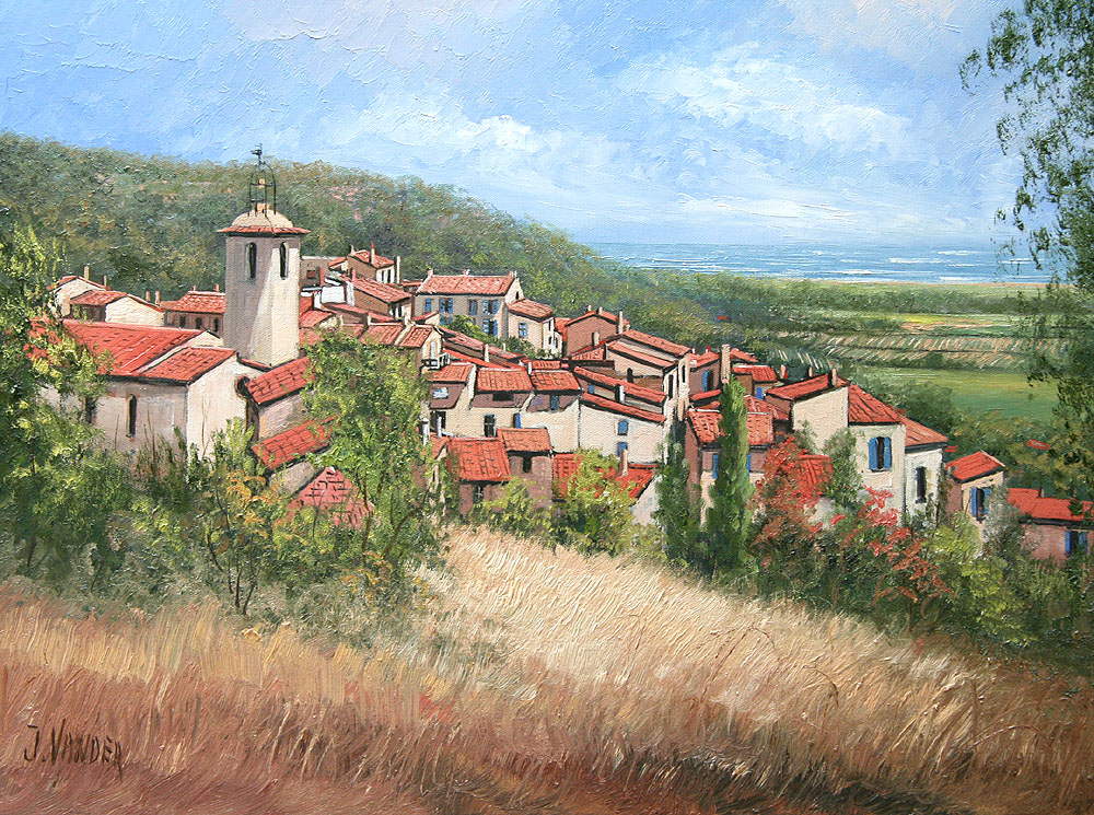 Ramatuelle, France oil 46cm x 61cm $4950 For Sale